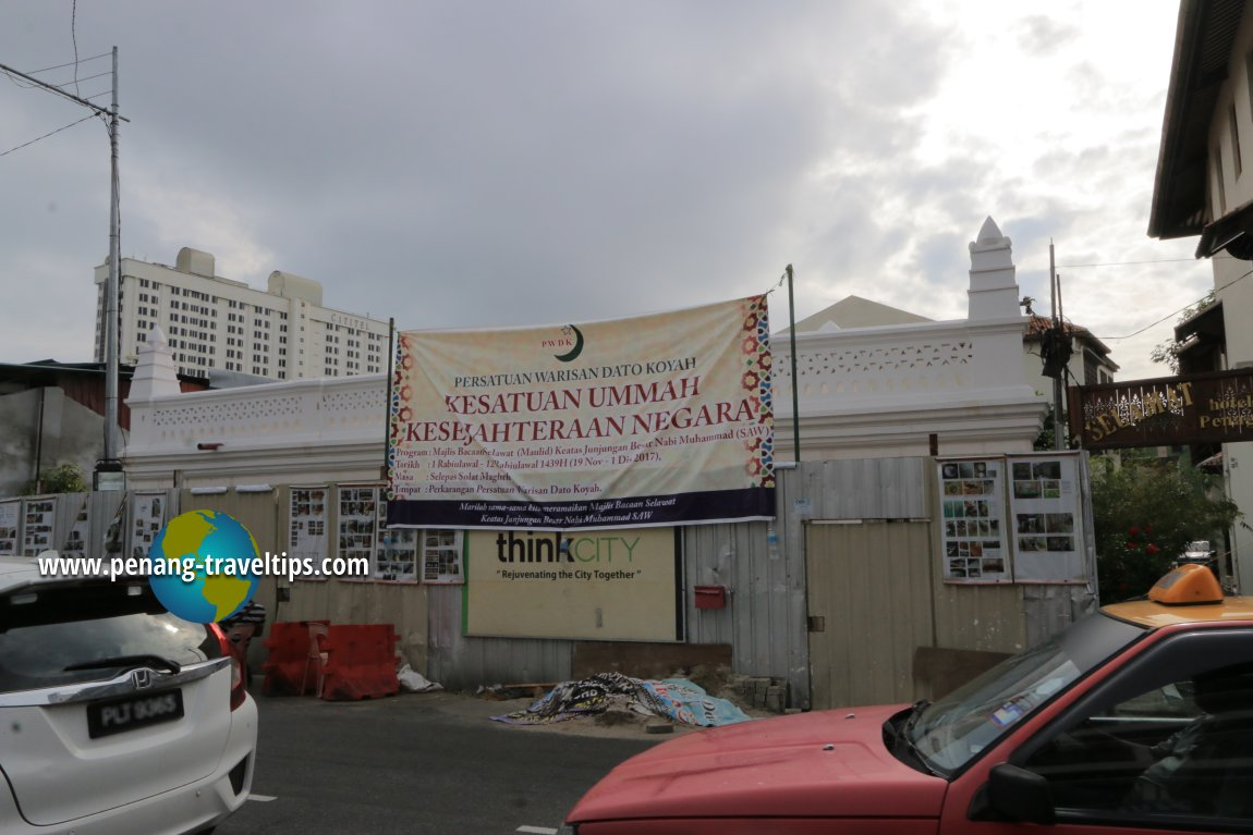 Dato Koyah Shrine under restoration