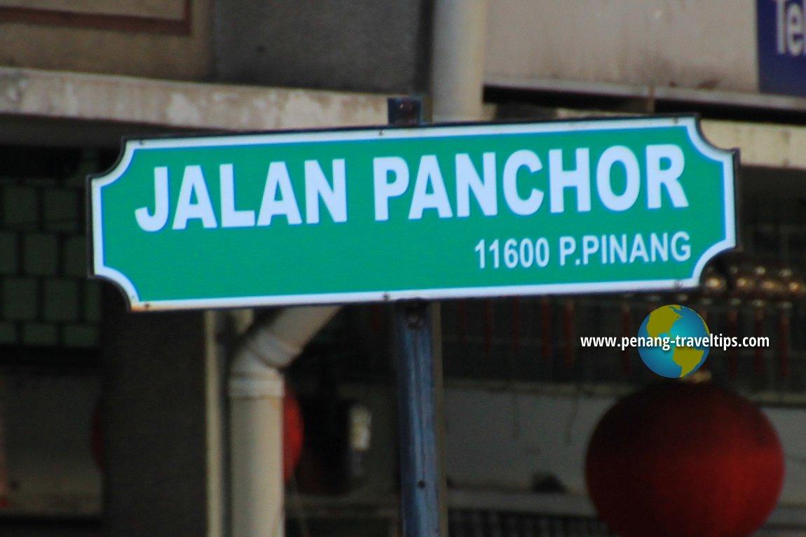 Jalan Panchor roadsign