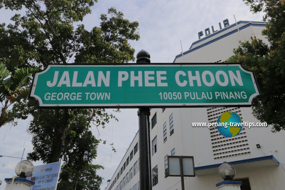 Jalan Phee Choon road sign