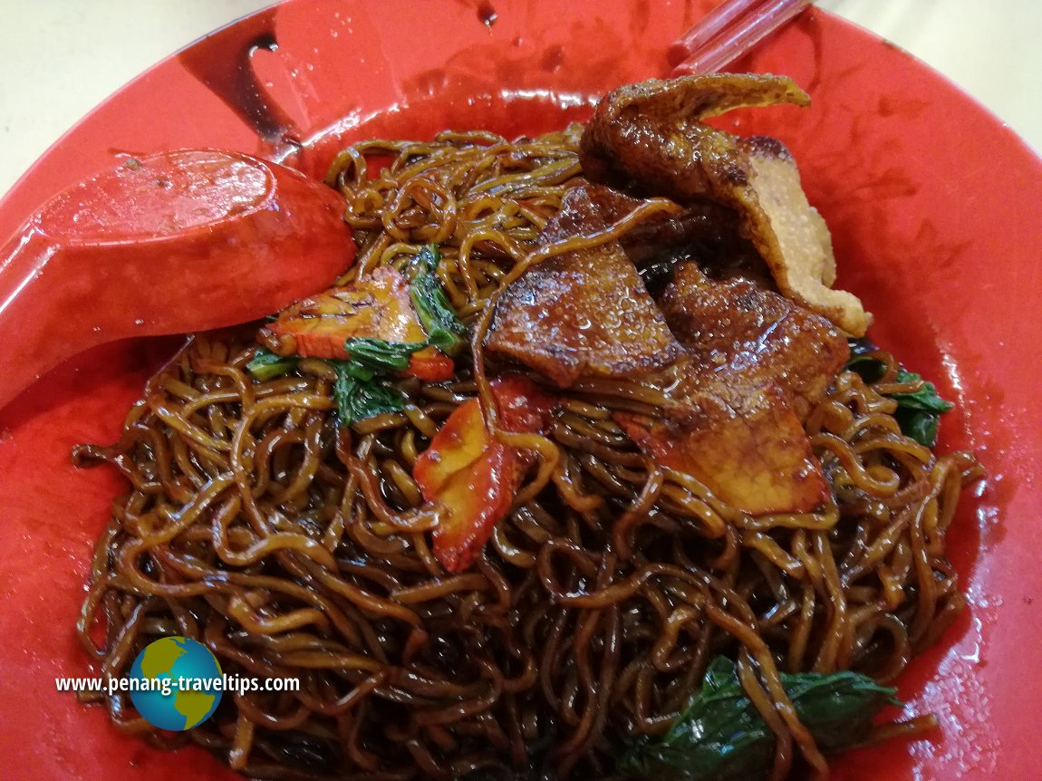 Wan Than Mee at the Mat Toh Yau coffee shop, Jelutong