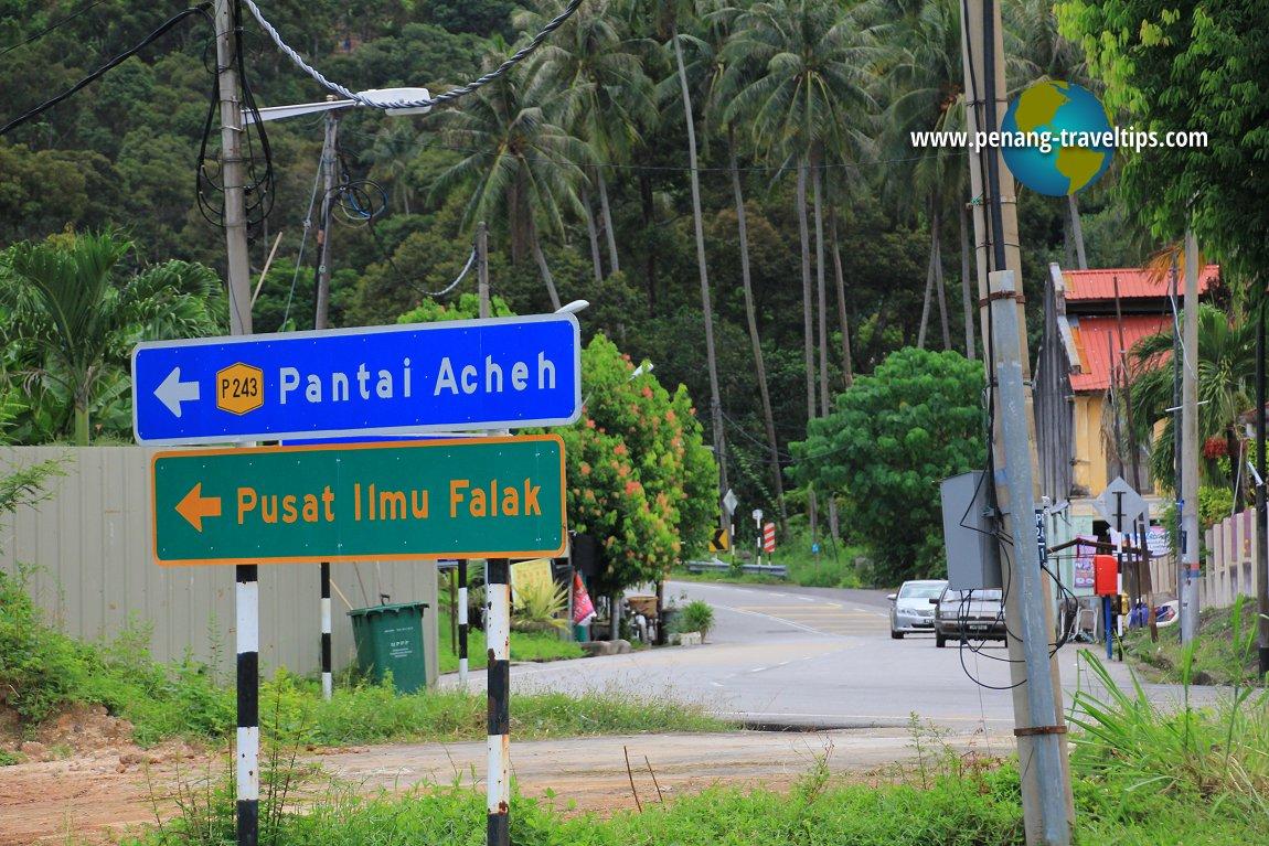 Pantai Acheh directional signboard