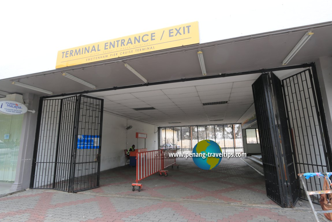 Passenger entrance to the Swettenham Pier Cruise Terminal