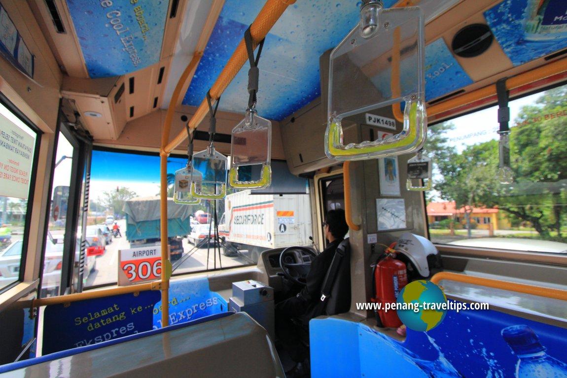 Interior of Rapid Penang bus