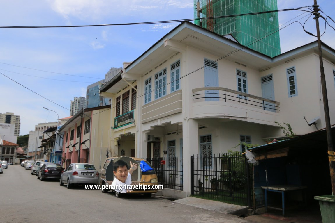 Jalan As Mansoor George Town Penang Hot Wheels Bread Boxs Hijau Art Deco Style Townhouses Along