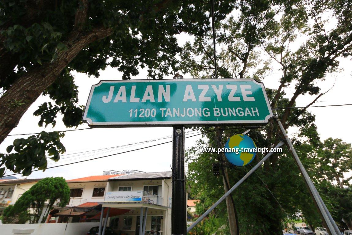 Jalan Azyze roadsign