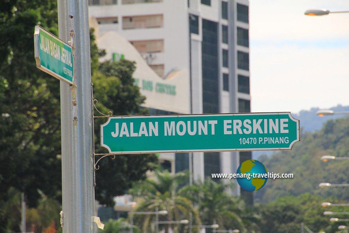Jalan Mount Erskine roadsign