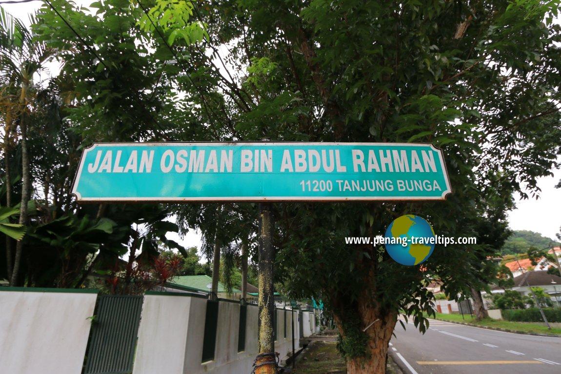Jalan Osman Bin Abdul Rahman roadsign