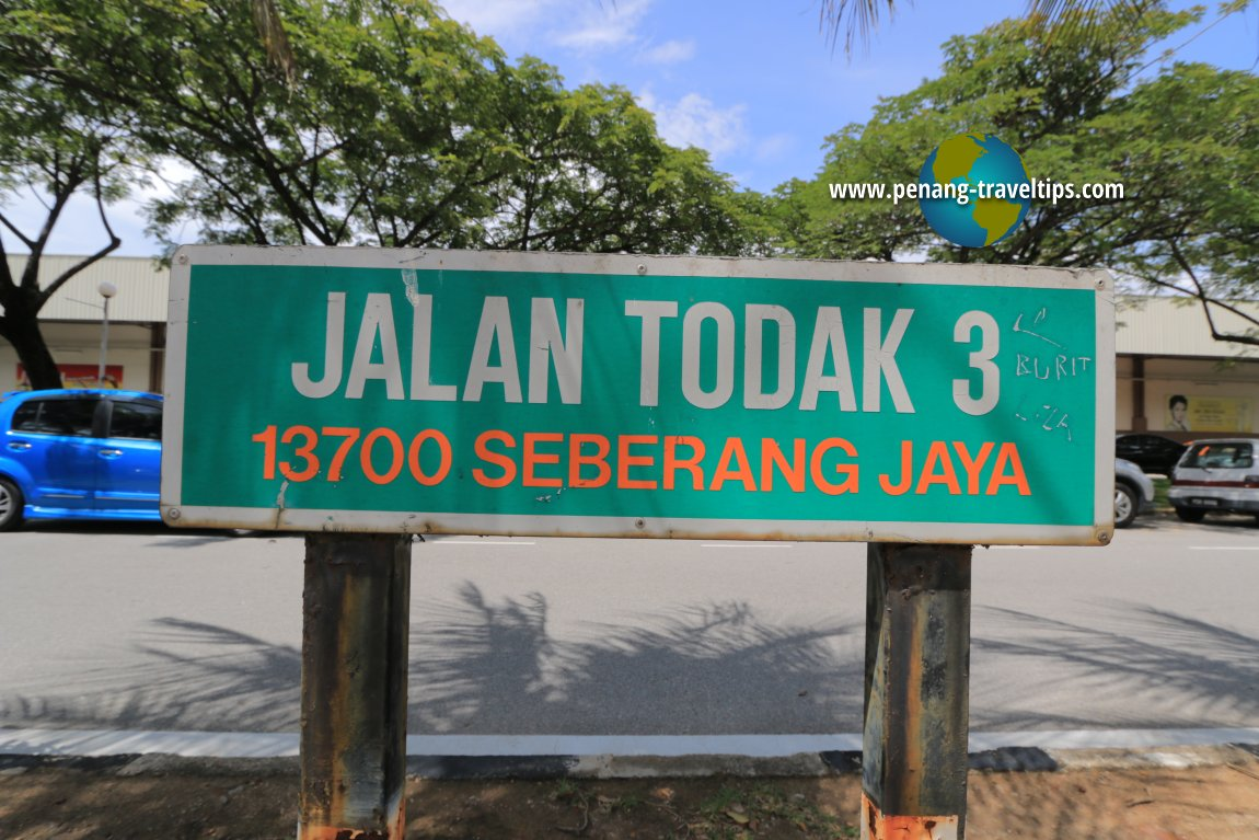 Jalan Todak 3 roadsign