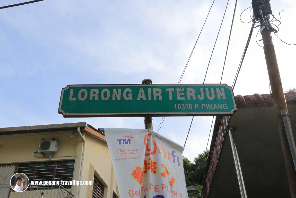 Lorong Air Terjun roadsign