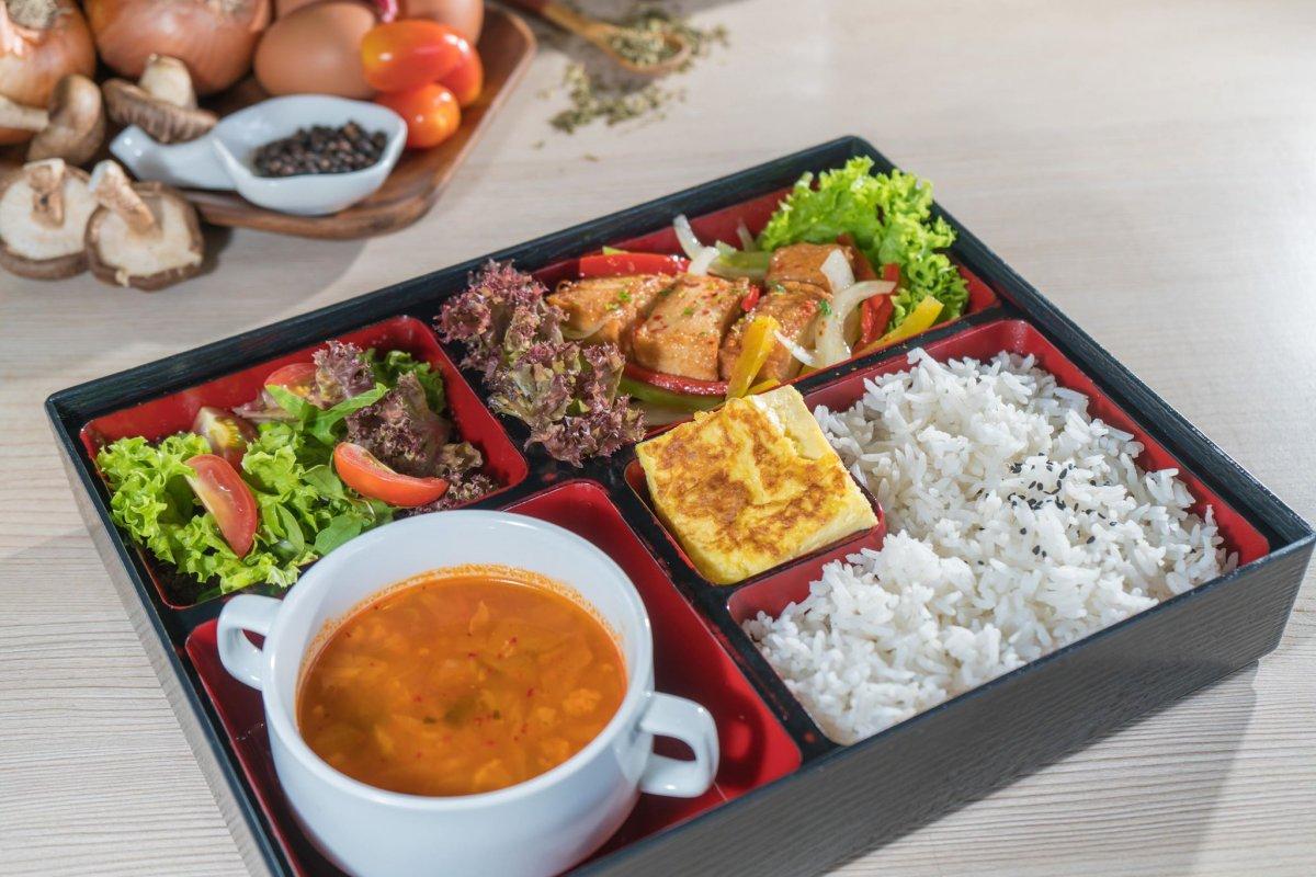 Stir-Fry Vege Seafood Tofu @ Mellowcup Cafe