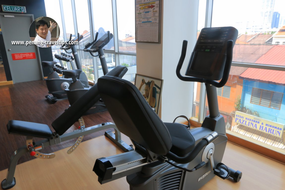 The gym at Urban H Hotel