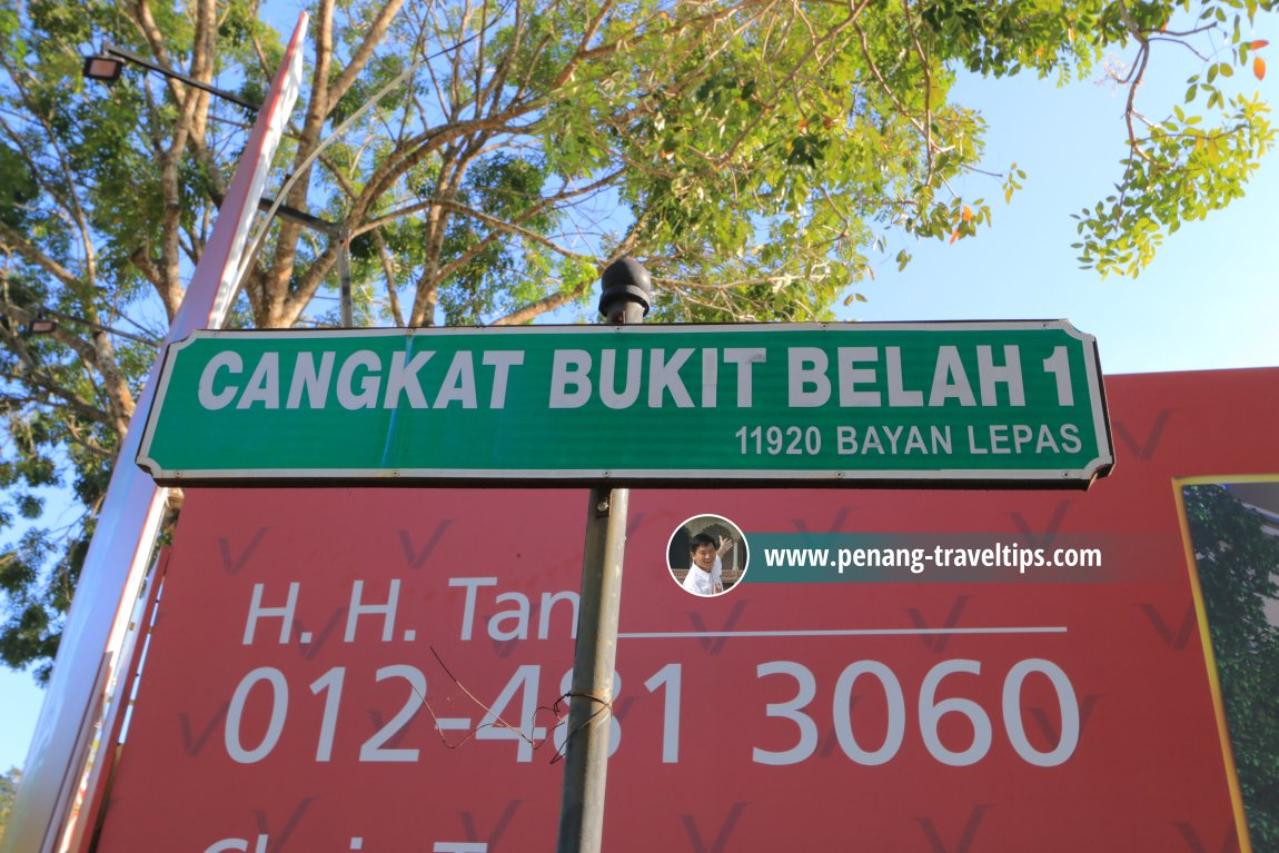Cangkat Bukit Belah 1 roadsign