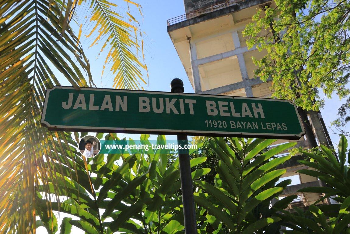 Jalan Bukit Belah roadsign