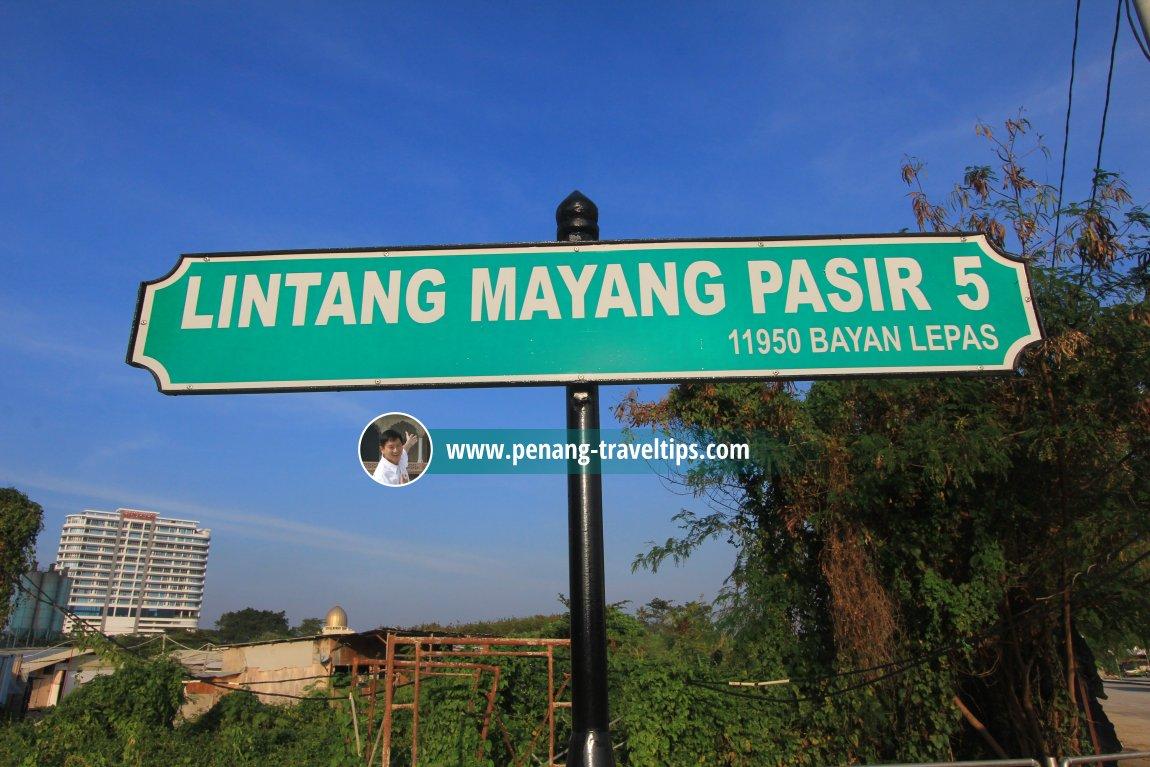 Lintang Mayang Pasir 5 roadsign