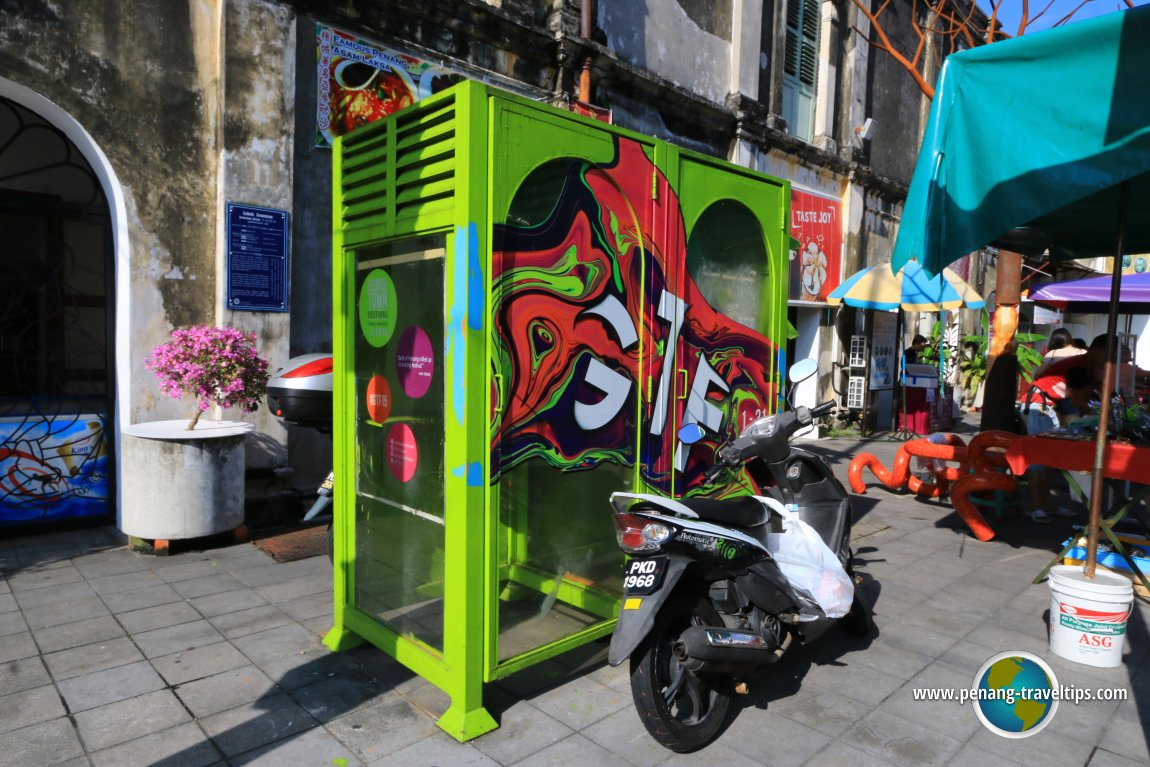 Armenian Street phone booth