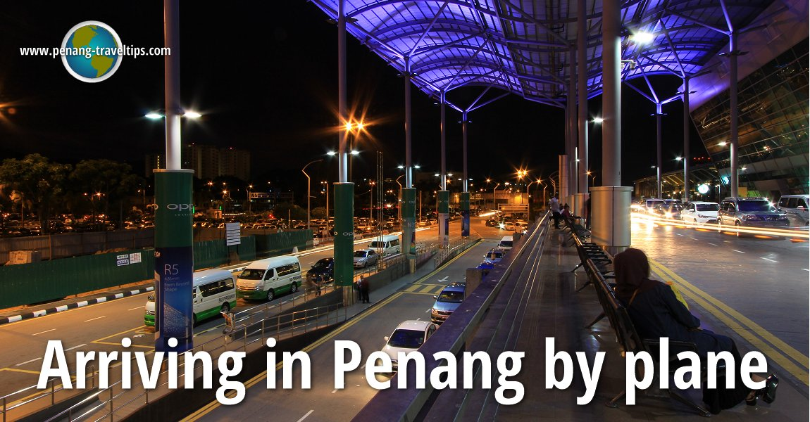 Arriving in Penang by plane