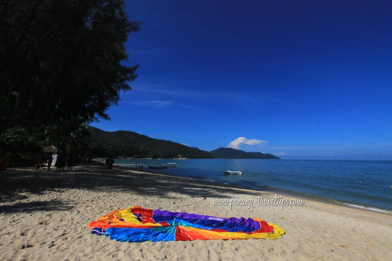 The Batu Ferringhi beach behind Hard Rock Penang