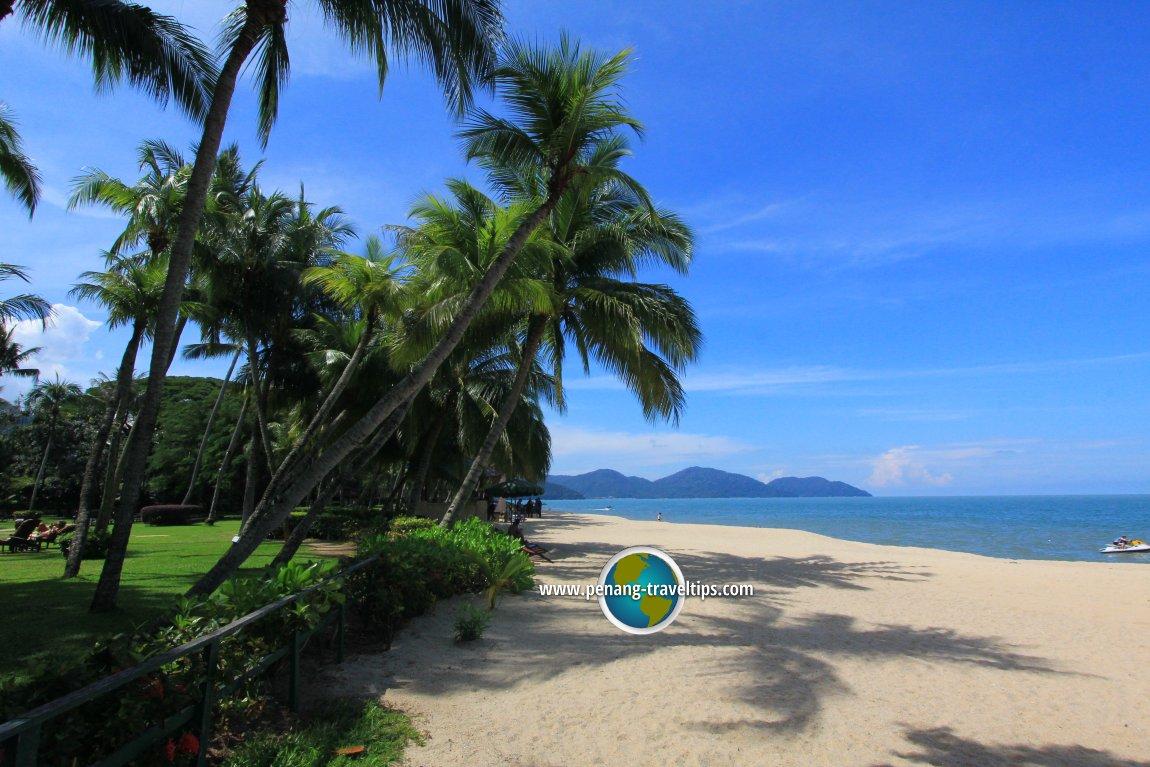 Batu Ferringhi beach at Rasa Sayang Resort