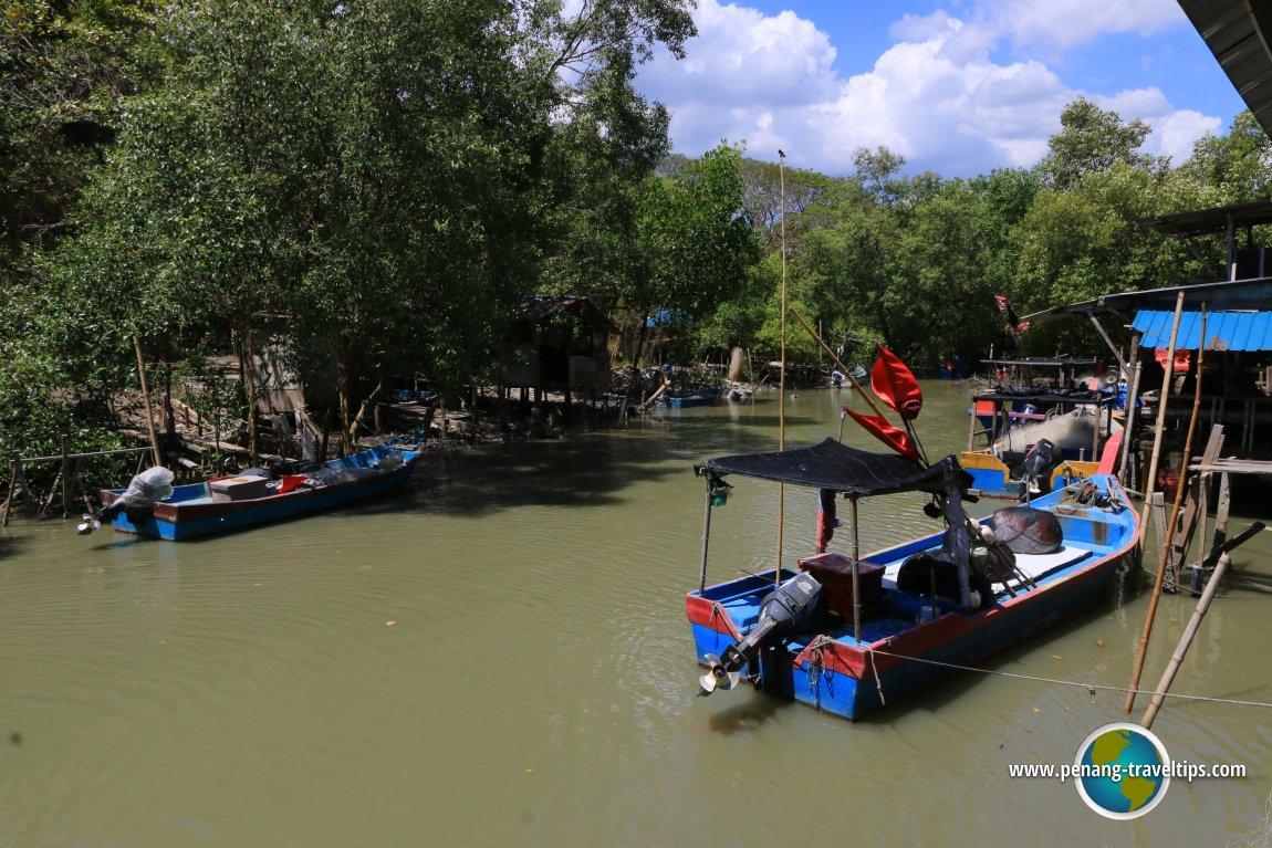 Fishermen's wharf along Sungai Bayan Lepas
