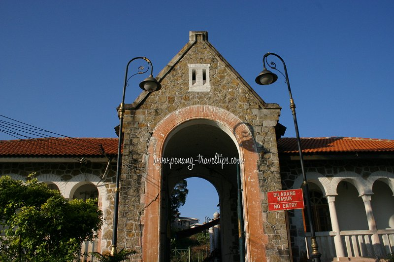 Entrance of Bel Retiro, retreat for the king and prime minister of Malaysia