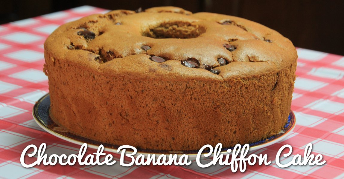 Chocolate Banana Chiffon Cake
