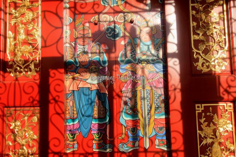 The door gods of Kuan Yin Teng
