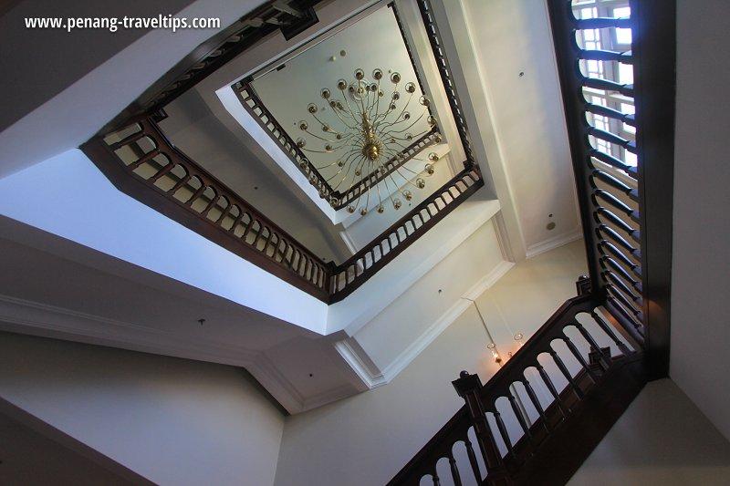 Stair well, Heritage Wing, Eastern & Oriental Hotel