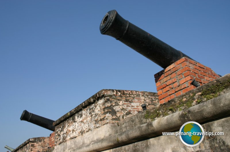 The cannons of Fort Cornwallis
