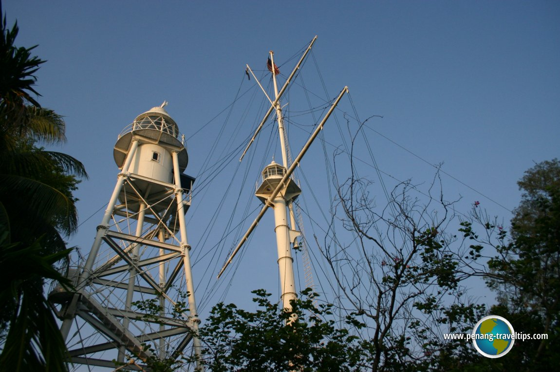 View of the Fort Cornwallis Lighthouse from Jalan Tun Syed Sheh Barakbah
