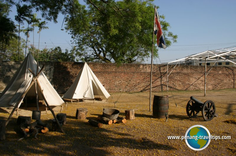 British landing, Fort Cornwallis