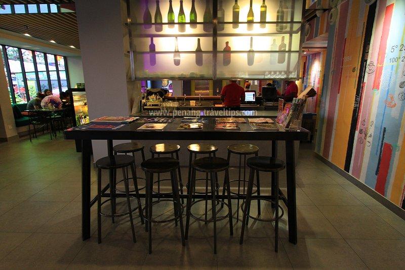 The bar at GLOW Penang