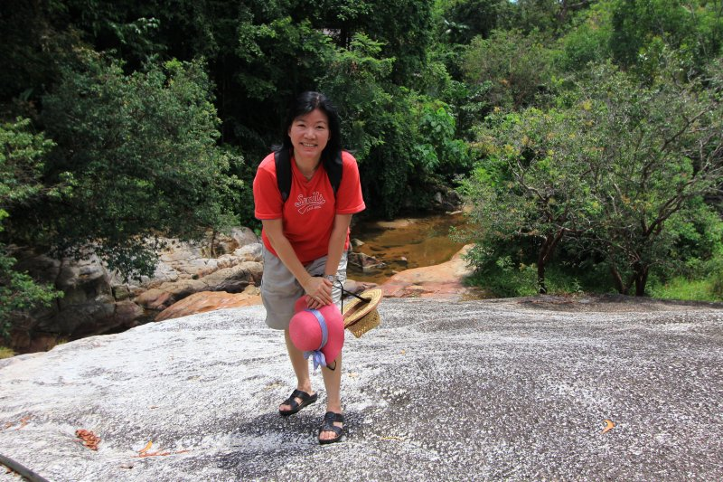Goh Chooi Yoke at Chin Farm Waterfall