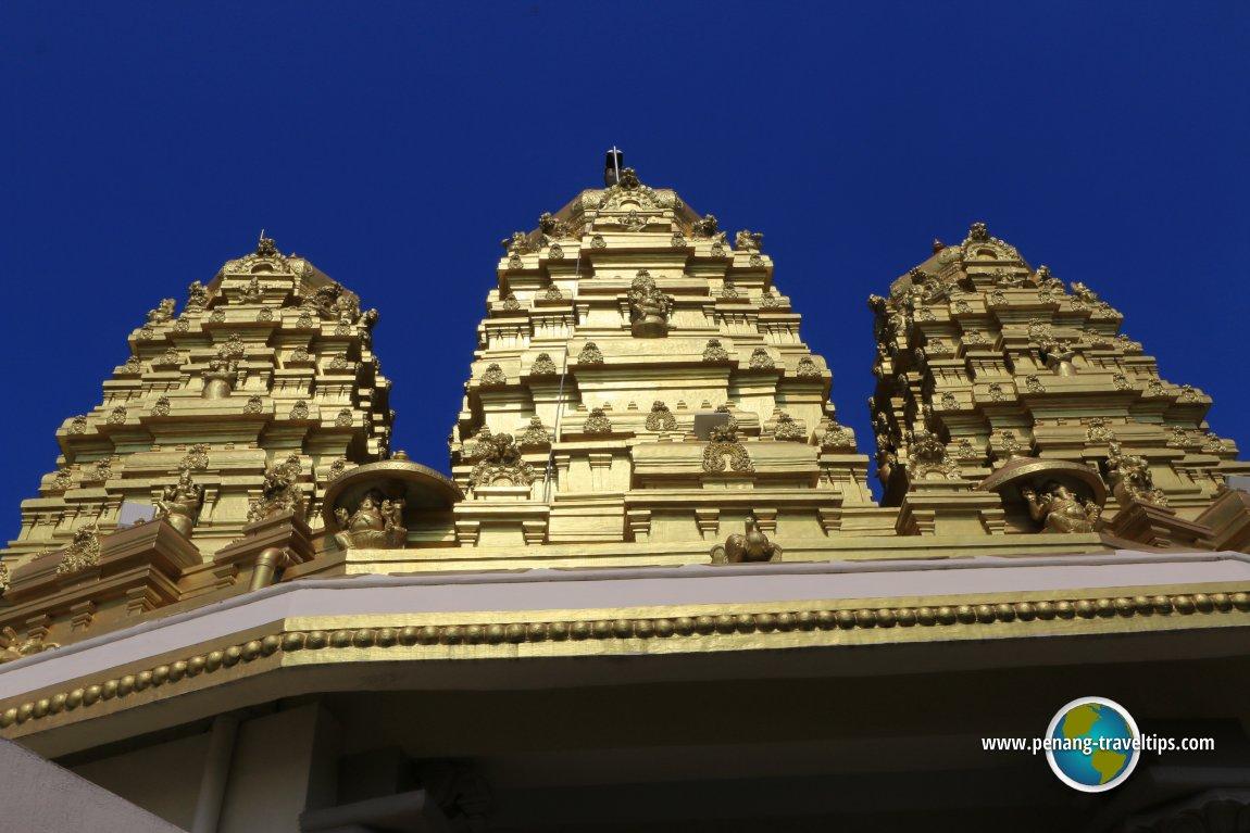 Golden gopurams of Sri Selva Vinayagar Temple