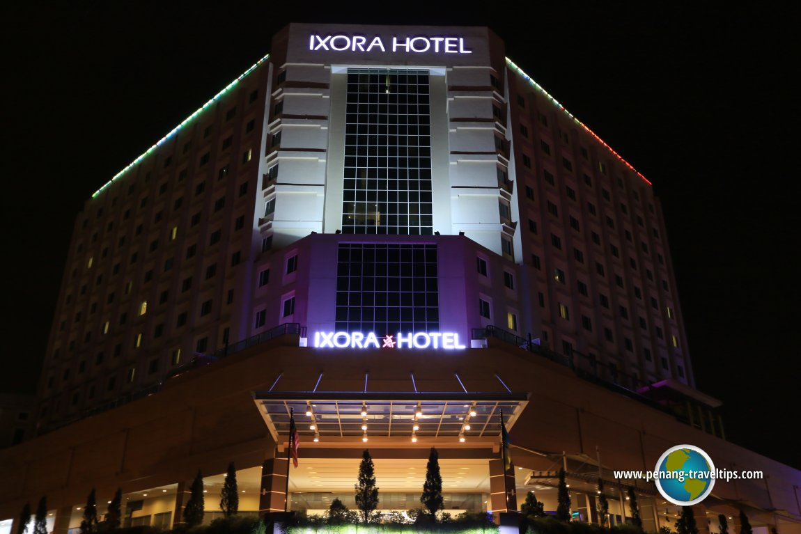 Ixora Hotel at night