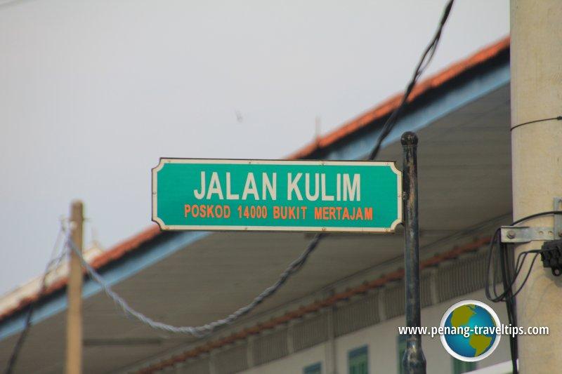 Jalan Kulim roadsign