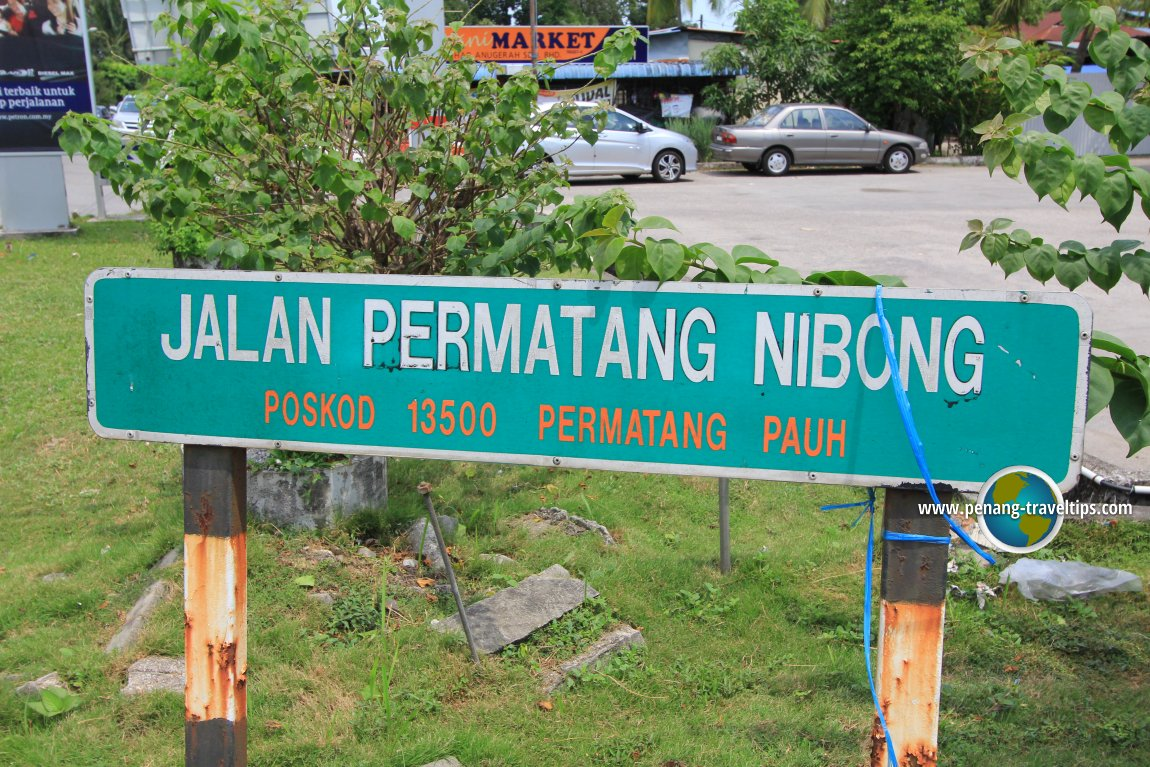 Jalan Permatang Nibong road sign