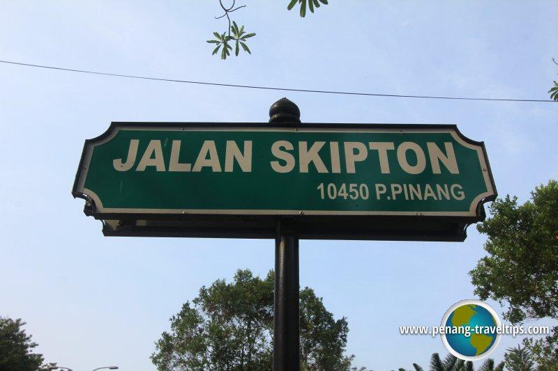 Jalan Skipton road sign