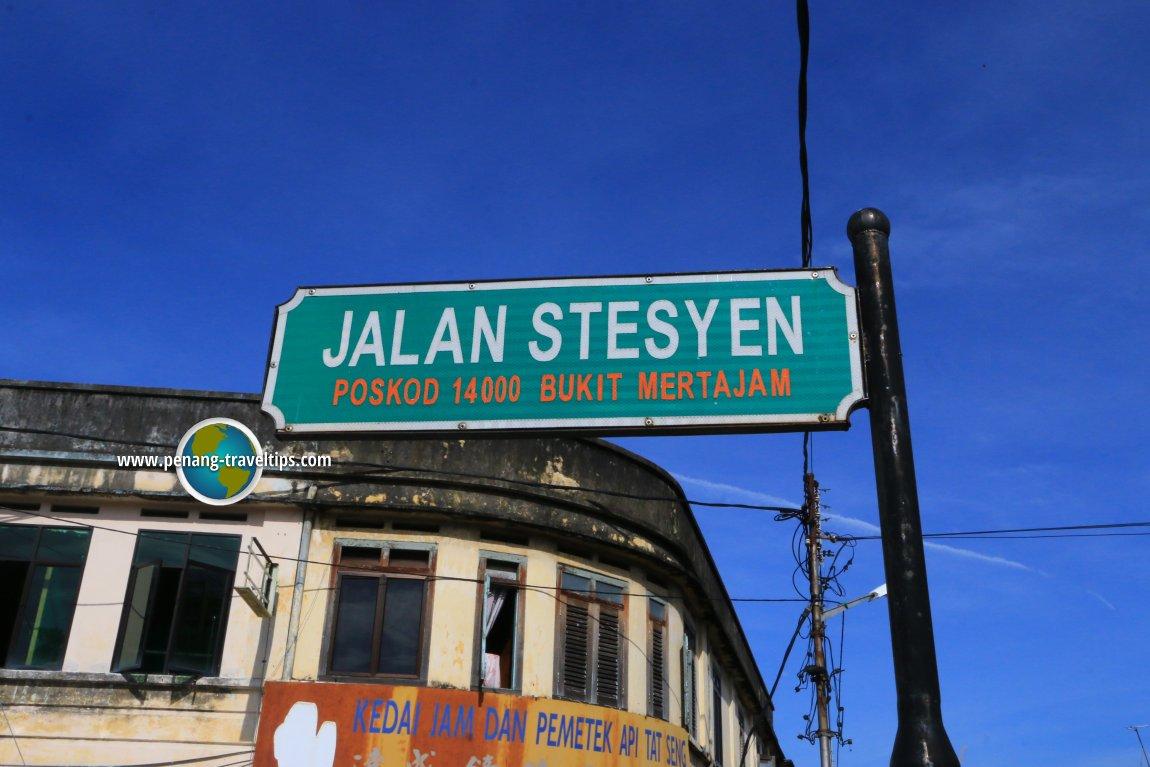 Jalan Stesyen road sign