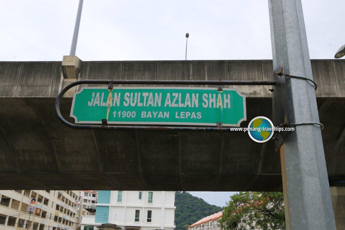 Jalan Sultan Azlan Shah road sign