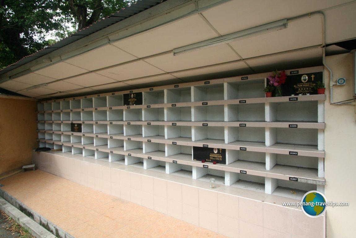 Columbarium, Kelawei Road Catholic Cemetery