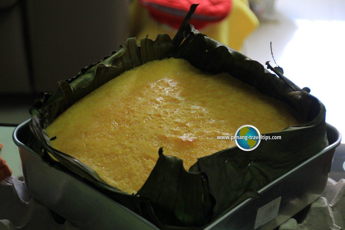 Kuih Bengka Ubi Kayu before baking