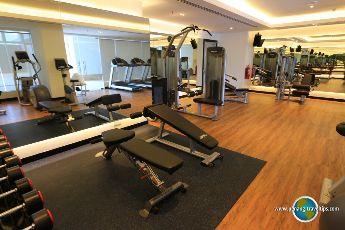 The gym at Lexis Suites Penang