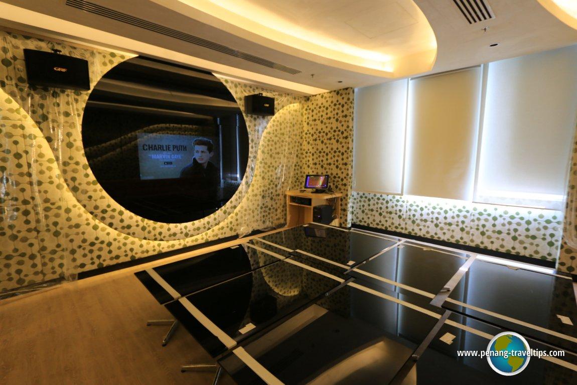 The karaoke room at Lexis Suites Penang