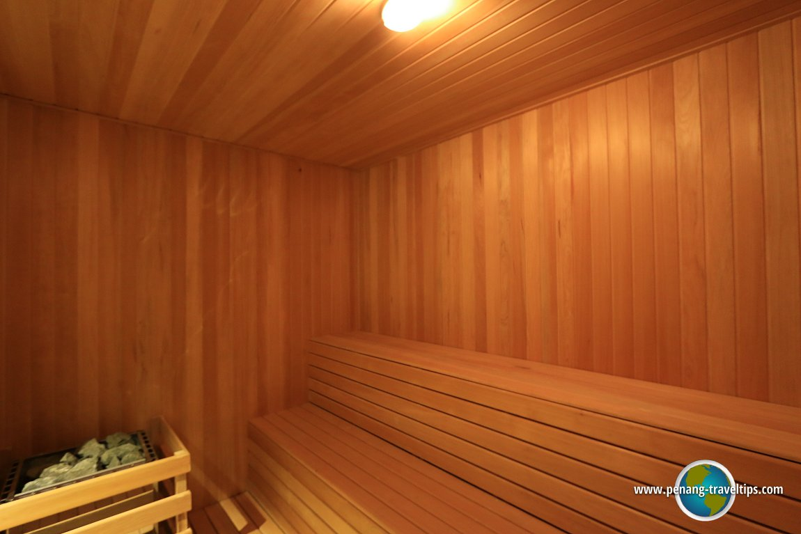 The sauna at Lexis Suites Penang