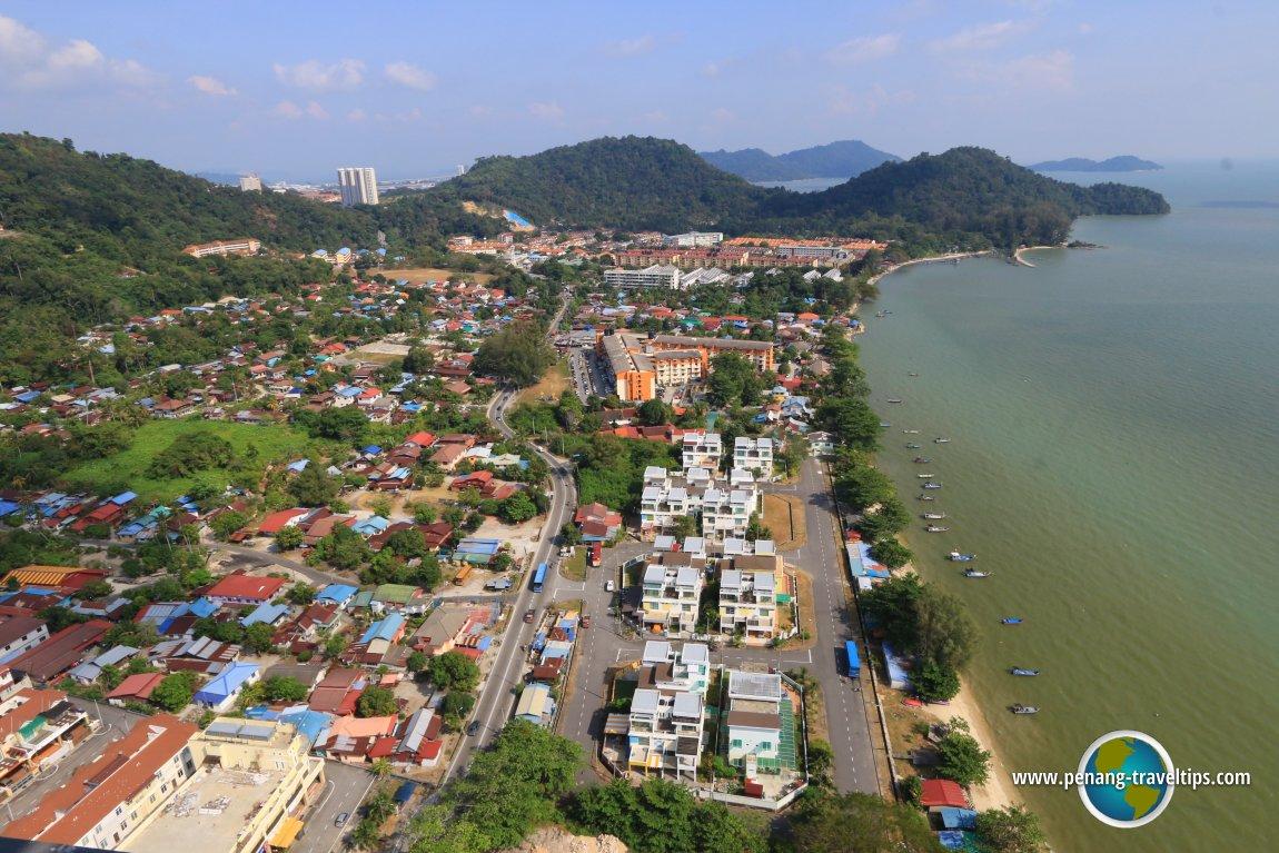 View of Teluk Kumbar from Lexis Suites Penang