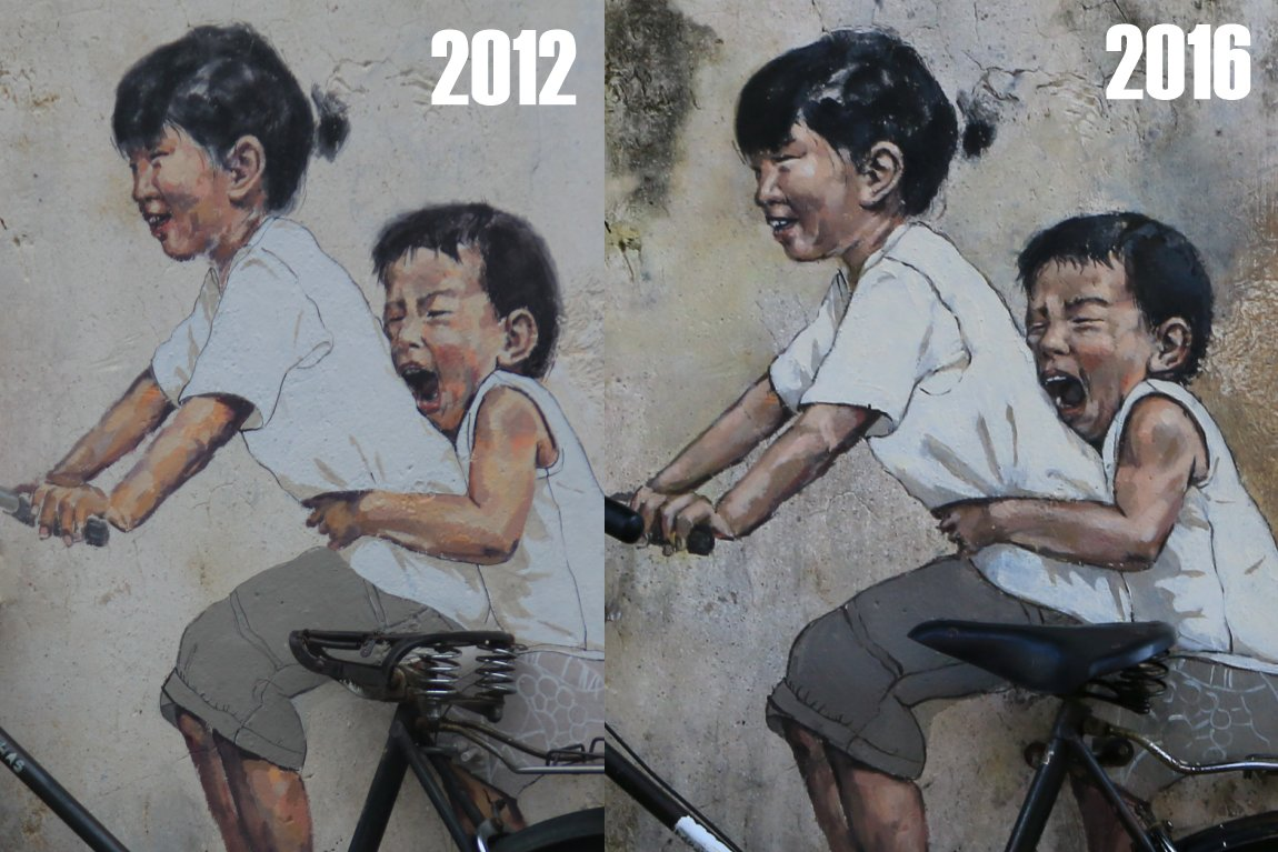 Little Children On A Bicycle - Before & After