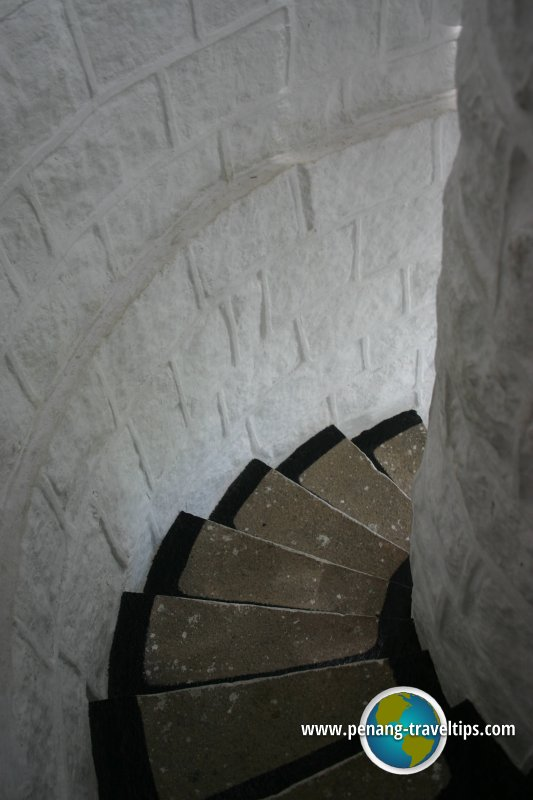 Spiral staircase, Muka Head Lighthouse