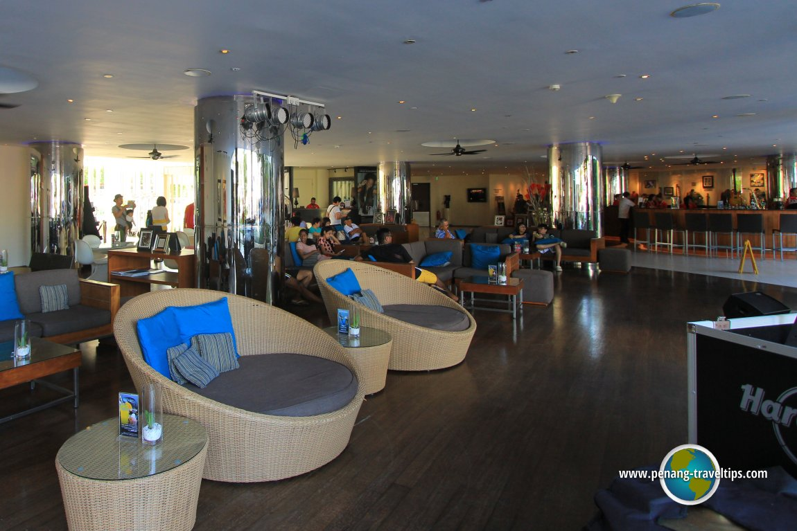 The lounge area of Hard Rock Hotel
