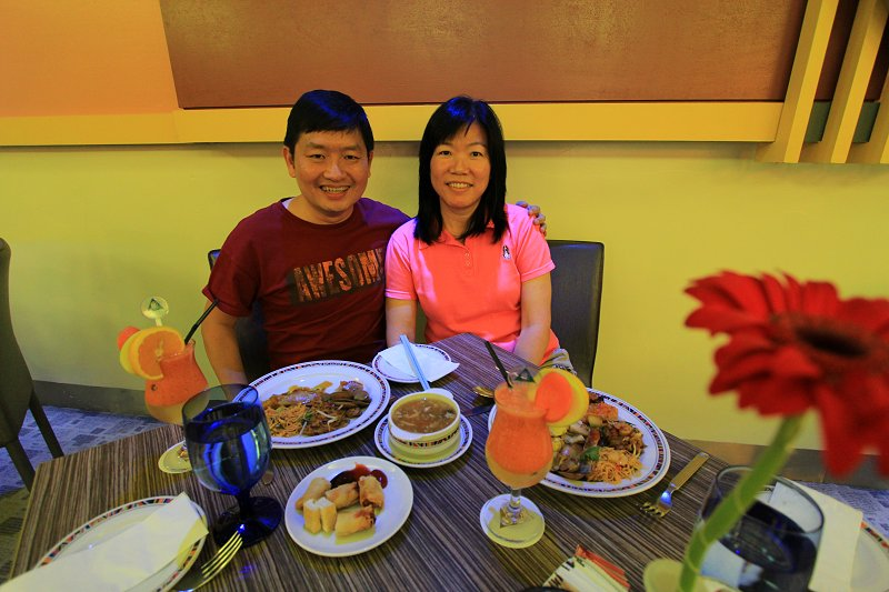 My wife and I enjoying lunch at Cititel