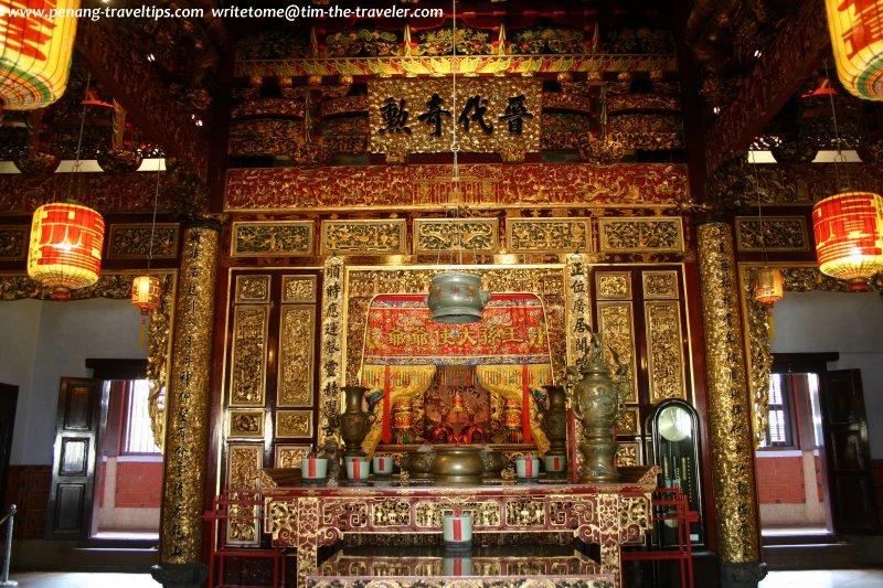The main altar at Khoo Kongsi
